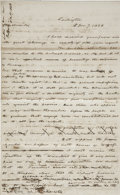 "Autographs:Statesmen, [Slavery: Wilmot Proviso] Associate Justice John McLean AutographLetter Draft Unsigned. Two pages, two-sided, 8"" x 13"", Was..."