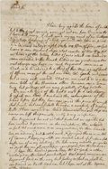 Autographs:U.S. Presidents, [George Washington] Lawrence Washington Autograph Letter Signed.Two pages, two-sided with integral address leaf, Jamaica, M...