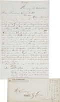 """Autographs:U.S. Presidents, [James Buchanan] Contemporary Copy of an Interview with Former President Buchanan. Two pages, two-sided, 7.75"""" x 12.5"""", Harr... (Total: 2 Items)"""