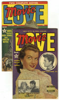 Golden Age (1938-1955):Romance, Movie Love #1 and 8 Group - Lost Valley pedigree (Famous Funnies,1950-51)....