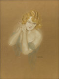 Pin-up and Glamour Art, RAPHAEL KIRCHNER (American 1867 - 1917). Vivienne Segal:Ziegfeld Follies Century Girl, 1916. Pastel, graphite, andopaq...