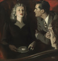Paintings, ANDREW LOOMIS (American 1892 - 1959). Made in Heaven. Oil on canvas. 23 x 22 in.. Signed lower right. ...