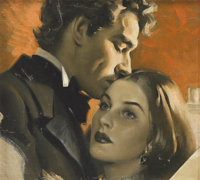 ANDREW LOOMIS (American 1892 - 1959) Portrait of Two Lovers Oil on canvas, mounted on board 12 x