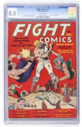 Golden Age (1938-1955):Miscellaneous, Fight Comics #1 (Fiction House, 1940) CGC VF+ 8.5 Off-white pages....