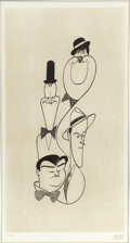 Mainstream Illustration, ALBERT HIRSCHFELD (American 1903 - 2003). Classic Comedians.Intaglio etching print. 18.5 x 9.5 in.. Signed lower right...