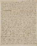 "Autographs:Statesmen, South Carolina Nullification Autograph Letter Signed ""F. H.McKinnie"" of Augusta, Georgia, to attorney Charles H. Shockl..."