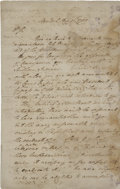 """Autographs:Statesmen, James Jackson Autograph Letter Signed. Two pages, 8"""" x 12.75"""",August 30, 1789, New York, to Joseph Clay of Savannah, Georgi..."""
