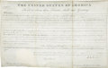 """Autographs:U.S. Presidents, John Quincy Adams Land Grant Signed as President. One page, 15.25"""" x 9.75"""", City of Washington, July 15, 1825...."""