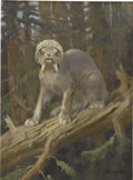 Mainstream Illustration, CHARLES R. KNIGHT (American 1874 - 1953). The Lynx. Oil onboard. 15.75 x 11.5 in.. Signed lower right. ...