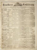 """Books:Periodicals, [Civil War Newspaper] Southern Confederacy. Four pages, 15.75"""" x21.25"""", October 28, 1862, Atlanta, Georgia. Contains intere..."""