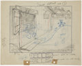 Animation Art:Production Drawing, The Steeple Chase Animation Layout Drawing Original Art(Disney, 1933)....
