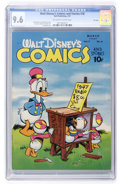 Golden Age (1938-1955):Cartoon Character, Walt Disney's Comics and Stories #78 File Copy (Dell, 1947) CGC NM+9.6 Off-white to white pages....