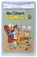 Golden Age (1938-1955):Cartoon Character, Walt Disney's Comics and Stories #80 File Copy (Dell, 1947) CGC NM-9.2 Off-white to white pages....