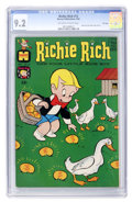 Silver Age (1956-1969):Humor, Richie Rich #12 File Copy (Harvey, 1962) CGC NM- 9.2 Off-white to white pages....