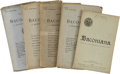 Books:Periodicals, [Francis Bacon]. Baconiana: A Quarterly Magazine - FiveVolumes,... (Total: 5 Items)