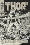 Original Comic Art:Covers, Jack Kirby and Vince Colletta Thor #145 Cover Original Art(Marvel,1967)....