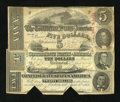 Confederate Notes:1863 Issues, T58 $20 1863.. T59 $10 1863.. T60 $5 1863.. ... (Total: 3 notes)