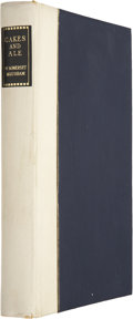 Books:Signed Editions, W. Somerset Maugham. Cakes and Ale. London: Heinemann, [1954]. 80th birthday edition. Limited to 1000 copies. Sign...