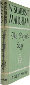 Books:First Editions, W. Somerset Maugham. The Razor's Edge. London: Heinemann,1944. First edition....