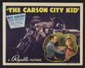 "Movie Posters:Western, The Carson City Kid (Republic, 1940). Lobby Card Set of 8 (11"" X 14""). Western.. ... (Total: 8 Items)"