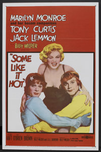 "Some Like It Hot (United Artists, 1959). One Sheet (27"" X 41""). Comedy"