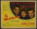 "Movie Posters:Comedy, The Talk of the Town (Columbia, 1942). Title Lobby Card (11"" X 14""). Comedy.. ..."