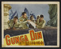 """Movie Posters:Action, Gunga Din (RKO, 1939 and R-1954). Lobby Cards (4) (11"""" X 14"""").Action.. ... (Total: 4 Items)"""