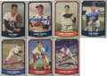 Autographs:Sports Cards, Vintage Baseball Stars Signed Trading Cards Group Lot of 87....