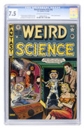 Golden Age (1938-1955):Science Fiction, Weird Science #15 (#4) (EC, 1950) CGC VF- 7.5 Off-white to whitepages....