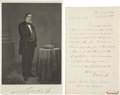 "Autographs:Statesmen, Lewis Cass Autograph Letter Signed as a U.S. senator from Michigan.One page, 5"" x 8"", October 7, 1851, Washington. This..."