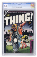 Golden Age (1938-1955):Horror, The Thing! #16 (Charlton, 1954) CGC NM+ 9.6 Off-white to white pages....