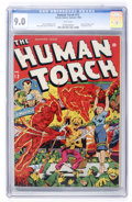 Golden Age (1938-1955):Superhero, The Human Torch #12 (Timely, 1943) CGC VF/NM 9.0 White pages....