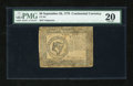 Colonial Notes:Continental Congress Issues, Continental Currency September 26, 1778 $8 PMG Very Fine 20....