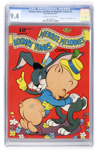 Looney Tunes and Merrie Melodies Comics #5 (Dell, 1942) CGC NM 9.4 Off-white to white pages