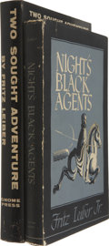 Books:Signed Editions, Fritz Leiber, Jr. Two First Editions, including: Night's Black Agents. 1947. Very good in brittle and faded dust jac... (Total: 2 Items)