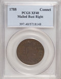 Colonials: , 1788 COPPER Connecticut Copper, Mailed Bust Right XF40 PCGS. PCGSPopulation (4/6). NGC Census: (0/0). (#397)...