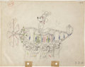 Animation Art:Production Drawing, The Mail Pilot Animation Production Drawing Original Art(Disney, 1933)....