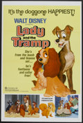 """Movie Posters:Animated, Lady and the Tramp (Buena Vista, R-1972). One Sheet (27"""" X 41""""). Animated.. ..."""