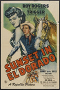 "Movie Posters:Western, Sunset in El Dorado (Republic, 1945). One Sheet (27"" X 41""). Western.. ..."