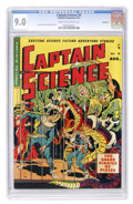 Golden Age (1938-1955):Science Fiction, Captain Science #5 Bethlehem pedigree (Youthful Magazines, 1951)CGC VF/NM 9.0 Cream to off-white pages....