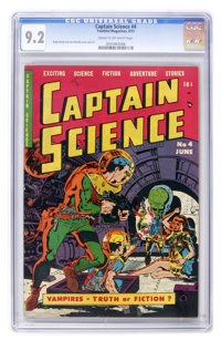 Captain Science #4 (Youthful Magazines, 1951) CGC NM- 9.2 Cream to off-white pages