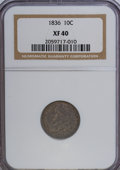 Bust Dimes, 1836 10C XF40 NGC. NGC Census: (5/166). PCGS Population (12/144).Mintage: 1,190,000. Numismedia Wsl. Price for NGC/PCGS co...