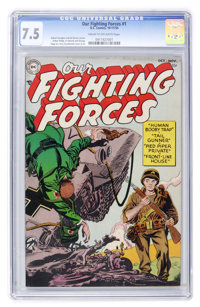 Our Fighting Forces #1 (DC, 1954) CGC VF- 7.5 Cream to off-white pages