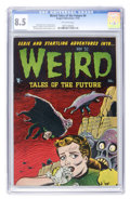 Golden Age (1938-1955):Horror, Weird Tales of the Future #4 (Aragon, 1952) CGC VF+ 8.5 Off-whitepages....