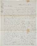 """Autographs:Military Figures, [John Brown of Osawatomie] Jason Brown Autograph Letter Signed to His Brother John Brown, Jr. Two pages, 7.75"""" x 9.75"""", Akro..."""