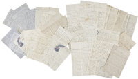 John Brown, Jr. Civil War-dated Archive of Letters to his wife Wealthy Brown. 34 letters (one incomplete, and eight a