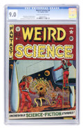 Golden Age (1938-1955):Science Fiction, Weird Science #8 (EC, 1951) CGC VF/NM 9.0 Cream to off-whitepages....