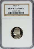 Proof Jefferson Nickels: , 2003-S 5C PR70 Ultra Cameo NGC. NGC Census: (1210/0). PCGS Population (198/0). Numismedia Wsl. Price for NGC/PCGS coin in ...
