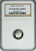 Proof Roosevelt Dimes, 2004-S 10C Silver PR70 Ultra Cameo NGC. PCGS Population (93/0).Numismedia Wsl. Price for NGC/PCGS coin...