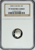 Proof Roosevelt Dimes, 2005-S 10C Silver PR70 Ultra Cameo NGC. PCGS Population (102/0).Numismedia Wsl. Price for NGC/PCGS coi...